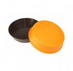 Plastic Dipping Bowls x 2. Ideal for crafts. 1 x Brown and 1 x Orange. S7307